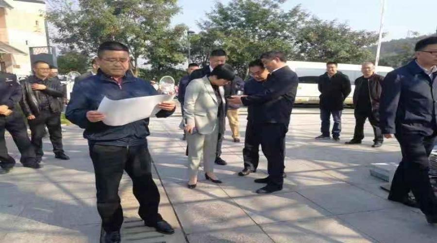 """市委书记王顺发视察""""天下龙泉""""大型实景演出现场"""