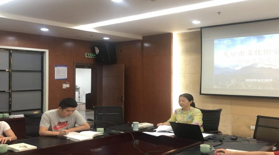 龙泉市文化馆召开全体党员大会